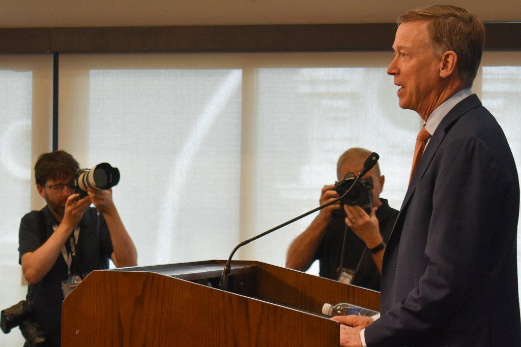 Former Colorado governor and presidential candidate John Hickenlooper