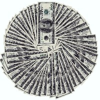 $100 bills in a circle (Photos8.com)