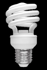 Spiral CFL bulb (SunLadder/Wikimedia Commons)