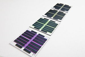 Organic solar cells on glass plates (Imec)