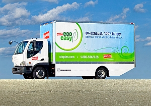 Electric truck (Courtesy Staples and MIT)