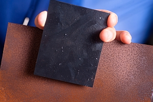 Graphene coated steel and uncoated steel (University at Buffalo)