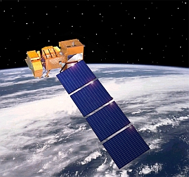 Landsat 7 satellite in orbit (NASA.gov)