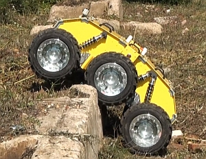 Experimental robot, developed for Anglo American, is designed to survey and map mining tunnels (National Robotics Engineering Center)