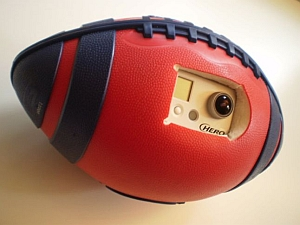 Football-mounted video camera (Robotics Institute, Carengie Mellon University)