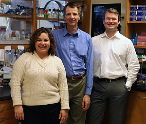 L-R: Rubi Figueroa-Teran, Claus Tittiger, and Dan Langford (Mike Wolterbeek, University of Nevada, Reno)