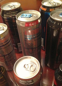 Energy drink cans (American Heart Association)
