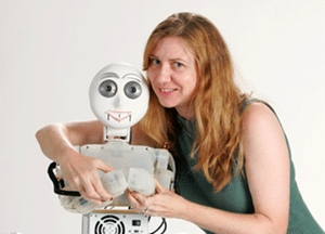 Maja Mataric´ and robot