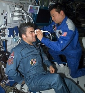 Vision testing of astronauts