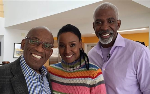Al Roker, left, with B. Smith and Dan Gasby