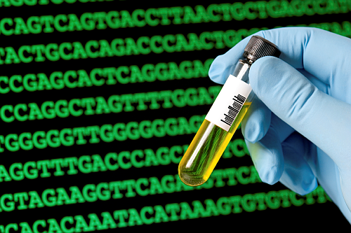 Genetic testing illustration