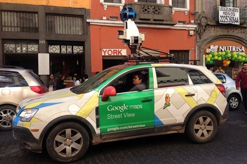 Google street view camera car