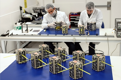 Microsatellites before launch