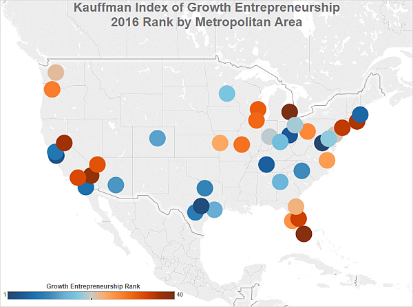Top metro areas for start-up growth