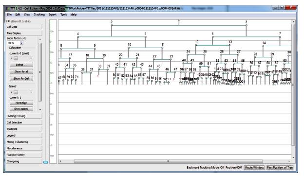 Tracking tool screen shot