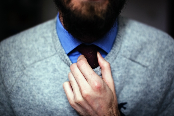Man in ties and pullover