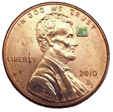 Atoms chip on penny