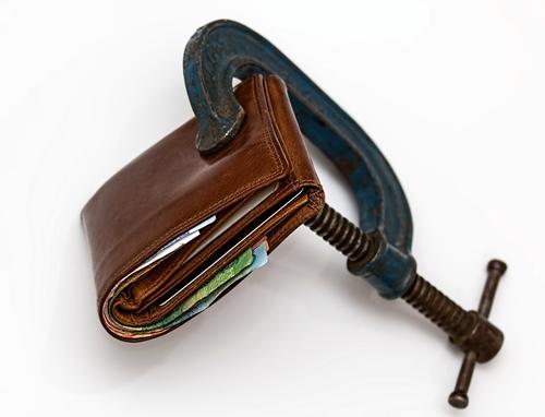 Wallet in vise