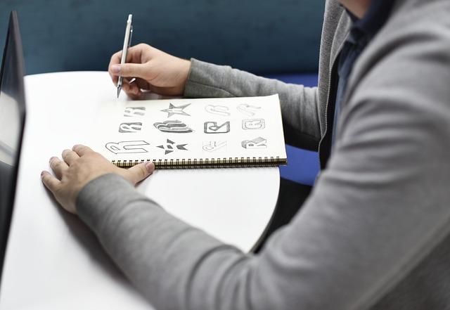 Doodling in notebook