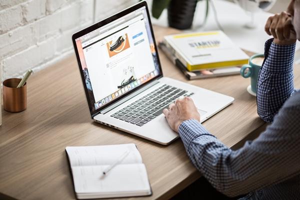 Laptop, notebook on desk