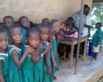 Children receiving vaccine