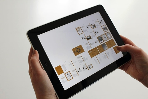 Tablet with graphic